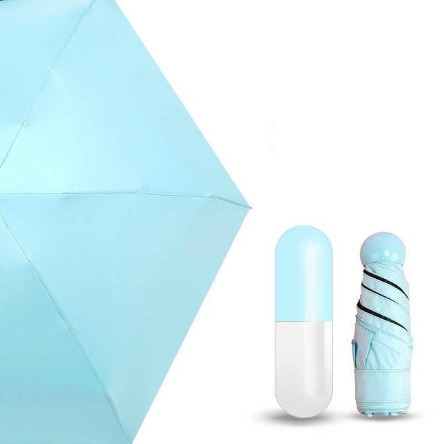 On a Rainy Day Store Umbrellas Blue CAPSULE™ Mini Pocket Umbrella