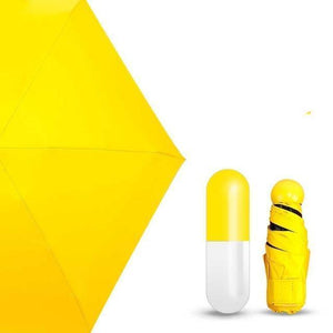 On a Rainy Day Store Umbrellas Yellow CAPSULE™ Mini Pocket Umbrella