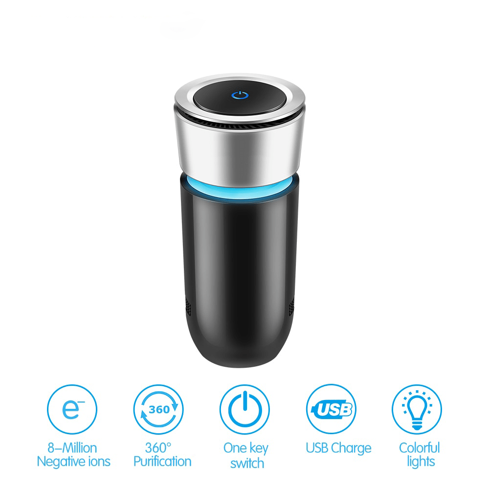 Onever Official Store Car Air Purifiers PurifyHouse™ Car Air Carbon Filter Purifier Ionizer