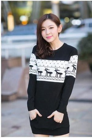 SMTHMA Official Store Pullovers Black For Her / S Cute Christmas Matching Couple Sweaters