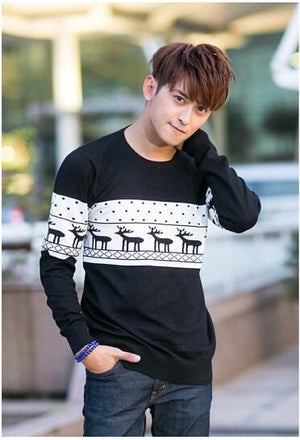 SMTHMA Official Store Pullovers Black For Him / S Cute Christmas Matching Couple Sweaters
