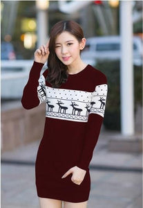 SMTHMA Official Store Pullovers Burgundy For Her / S Cute Christmas Matching Couple Sweaters
