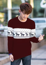 SMTHMA Official Store Pullovers Burgundy For Him / S Cute Christmas Matching Couple Sweaters