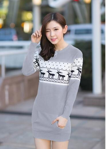 SMTHMA Official Store Pullovers Gray For Her / S Cute Christmas Matching Couple Sweaters