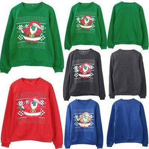 Support Dropshipping Store Pullovers Blue / S Ugly Christmas Santa Sweater
