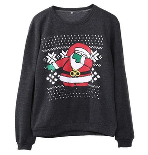 Support Dropshipping Store Pullovers Gray / S Ugly Christmas Santa Sweater