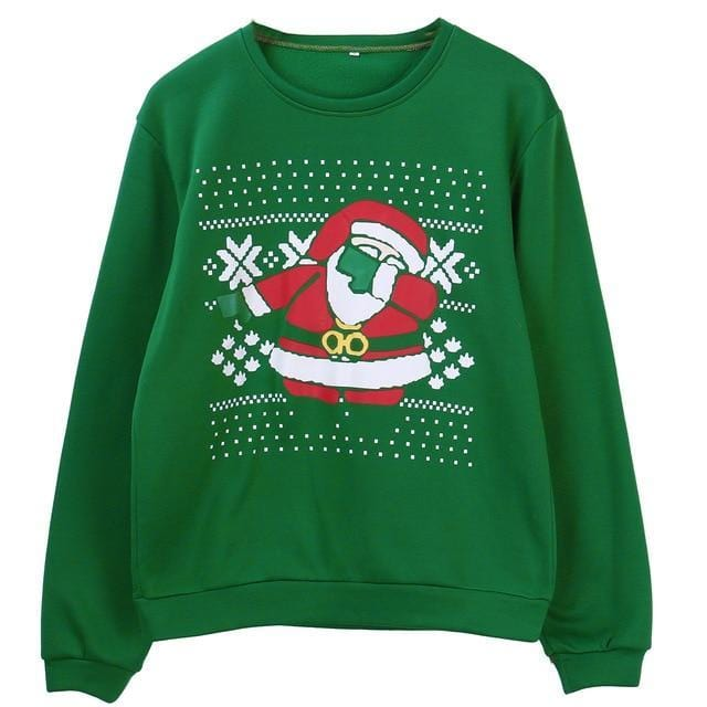 Support Dropshipping Store Pullovers Green / S Ugly Christmas Santa Sweater