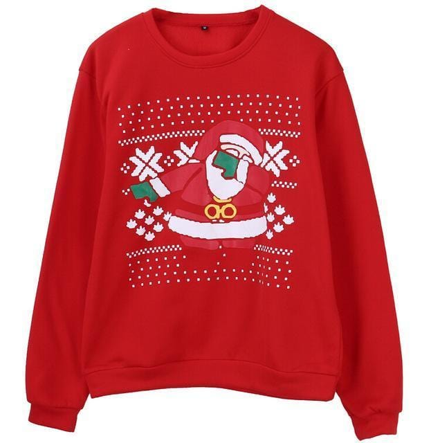Support Dropshipping Store Pullovers Red / S Ugly Christmas Santa Sweater