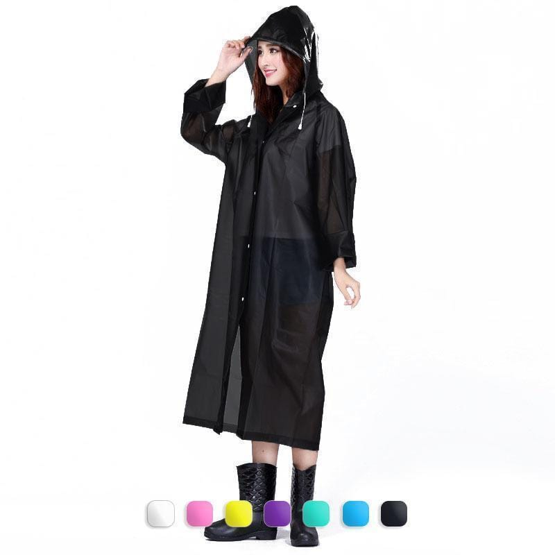 UnderRain Store Raincoats Black Fashion EVA Women Raincoat