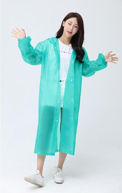 UnderRain Store Raincoats Green Fashion EVA Women Raincoat