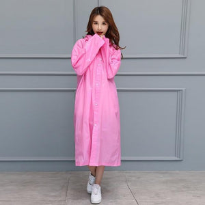 UnderRain Store Raincoats Pink Fashion EVA Women Raincoat