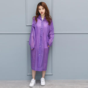 UnderRain Store Raincoats Purple Fashion EVA Women Raincoat