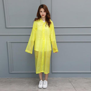 UnderRain Store Raincoats Yellow Fashion EVA Women Raincoat