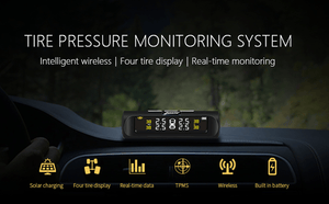 YASOKRO Official Store Tire Pressure Alarm TireMate™ TPMS Solar Tire Pressure Monitor System