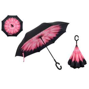 Yesello Umbrella Store Reverse Umbrella Pink Daisy RAINAWAY™ Double-Layer Reverse Umbrella