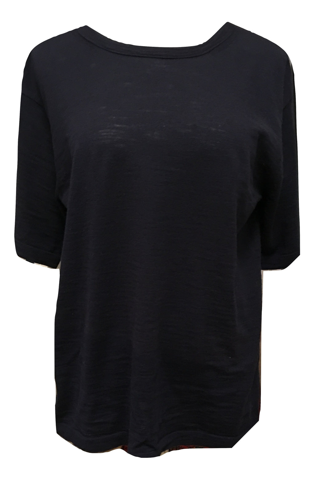 360 Cashmere Honey Tee - Navy