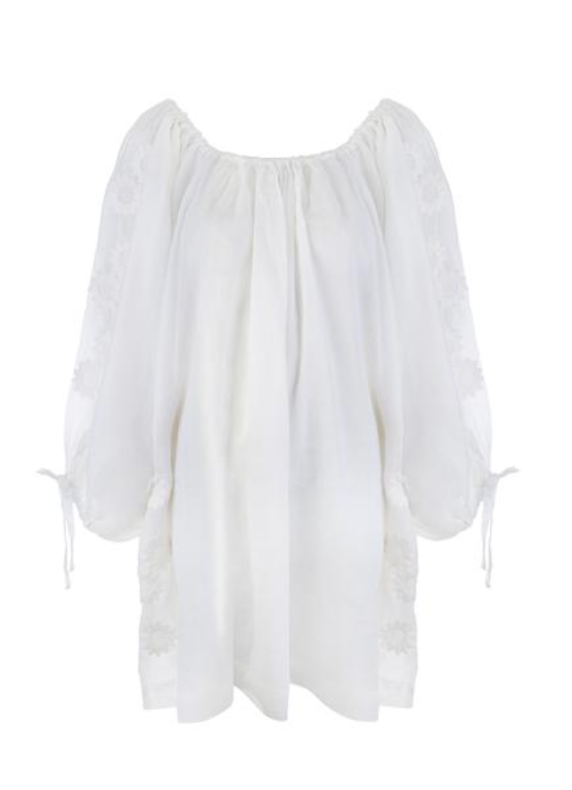 Innika Choo Pocket Smock Mini Dress - Milk