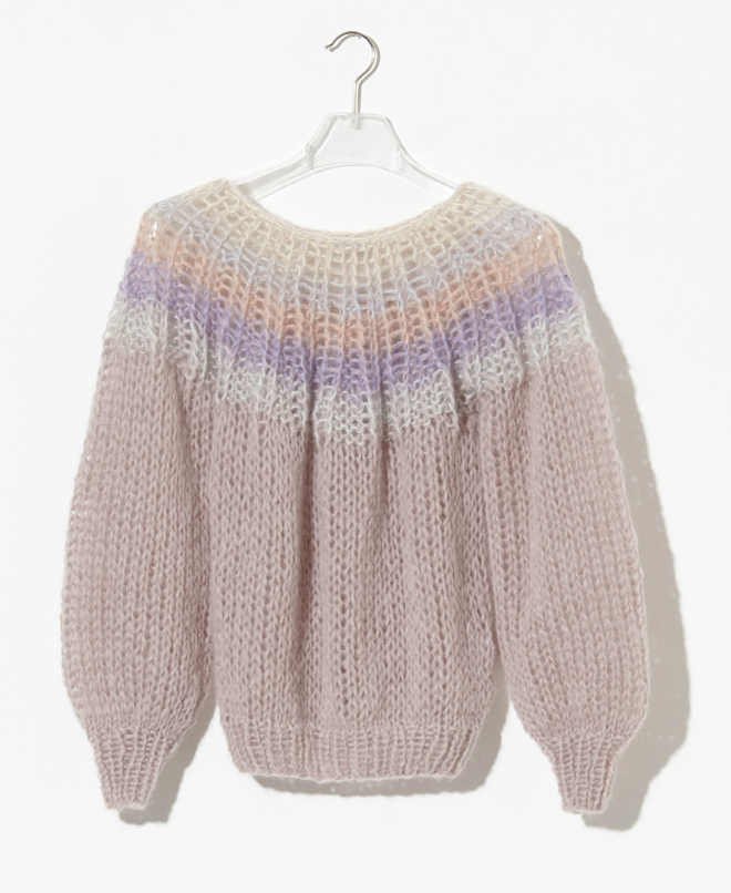 Maiami Mohair Pleated Sweater - Rose