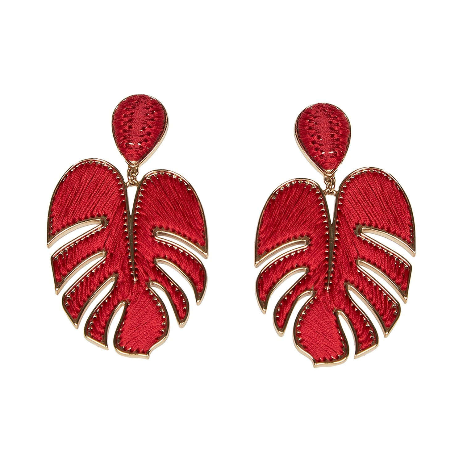 Mignonne Gavigan Palmer Drop Earrings - Red