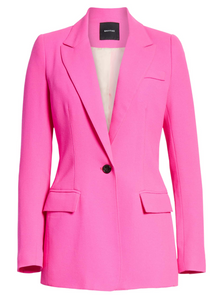 Smythe Tailored Blazer - Neon Pink