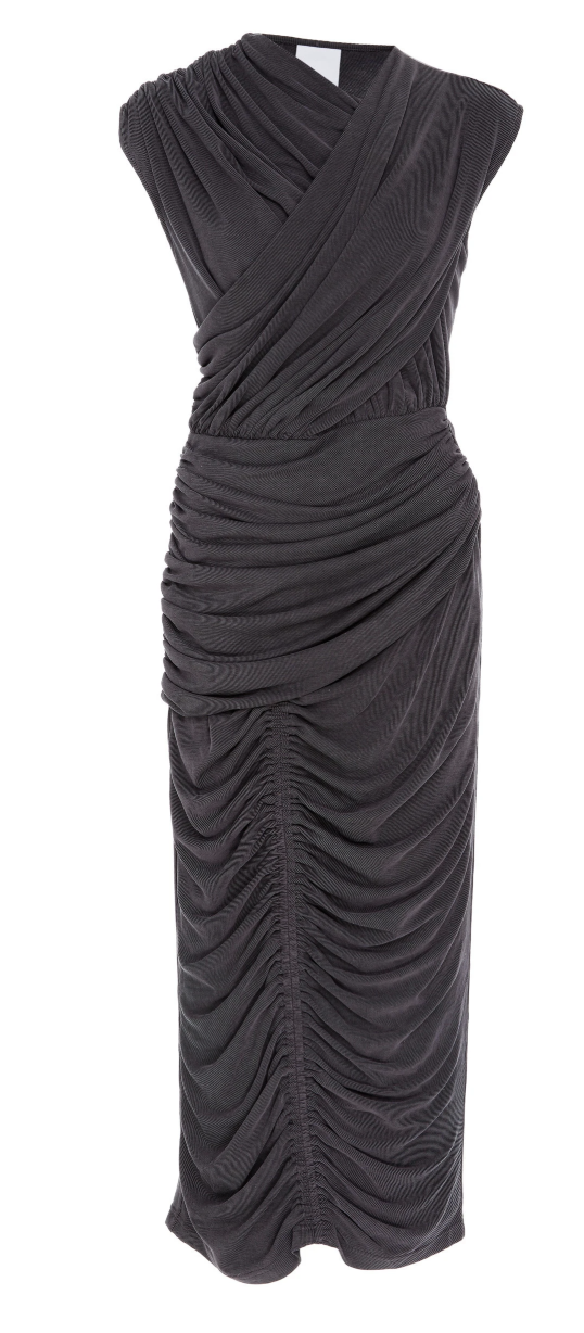 Acler Palmer Dress - Charcoal
