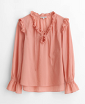 Alex Mill Lani Pleated Top - City Pink
