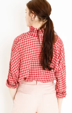A Shirt Thing Penelope Top - Red Gingham