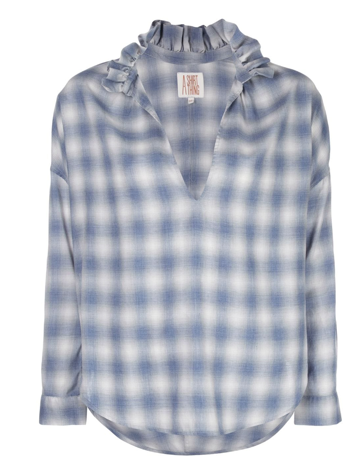 A Shirt Thing Penelope Top - Soft Plaid Blue