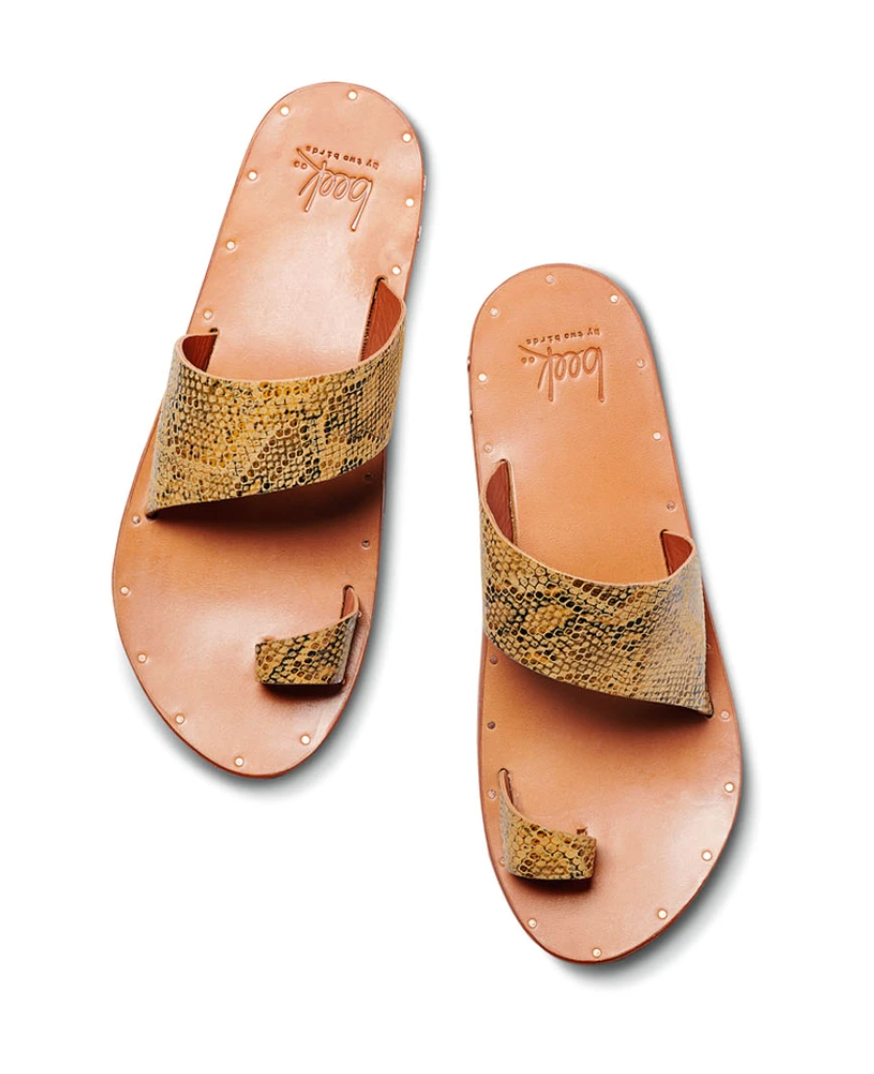 Beek Finch Sandals - Snake Tan