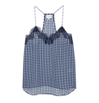 Cami NYC Racer Charm - Navy Gingham