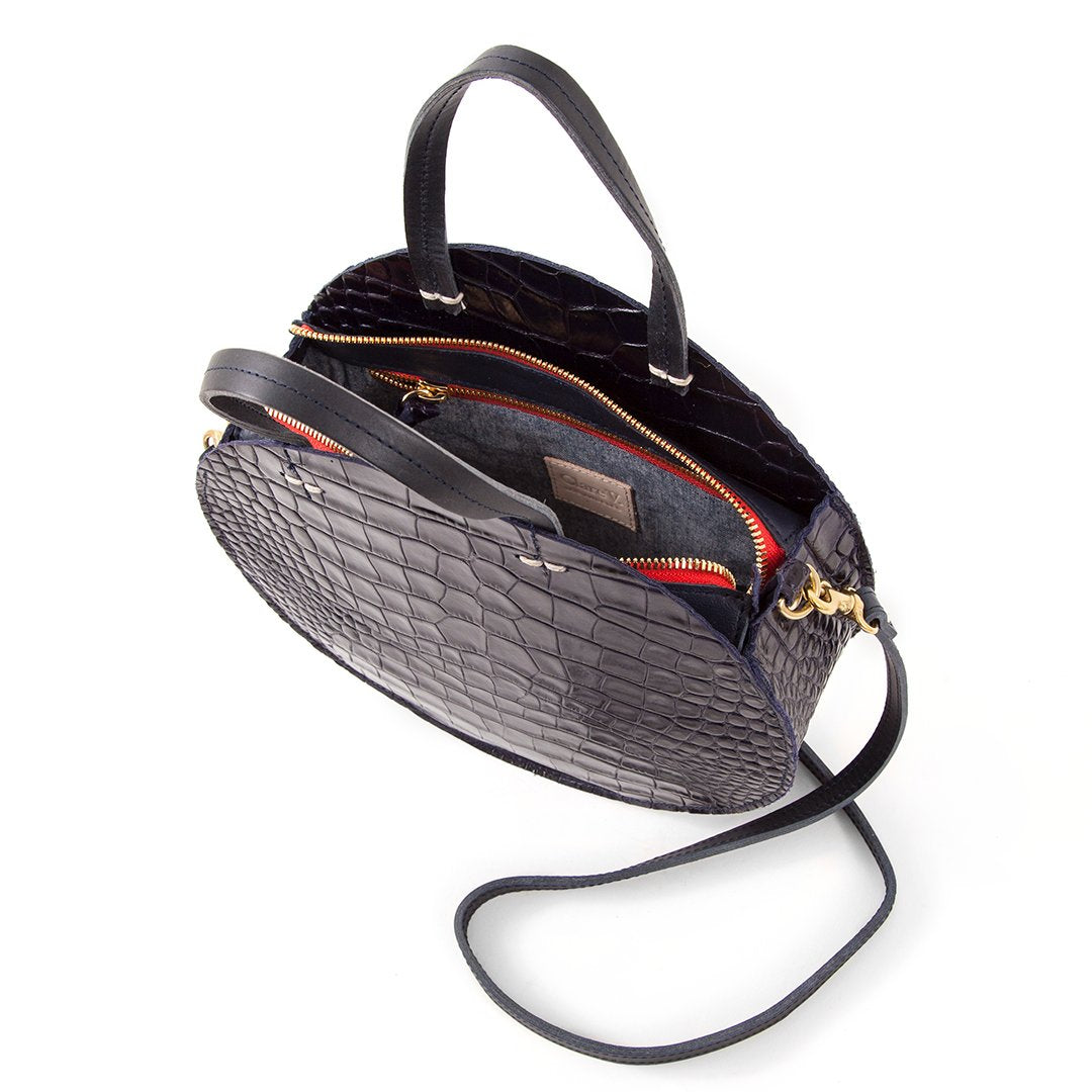 Clare Vivier Petite Alistair - Midnight Croc