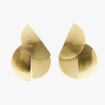 Fay Andrada Uuma Earrings - Large Brass