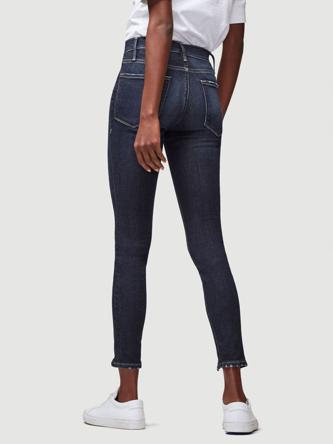 Frame Le High Skinny Zipper - Ruffin