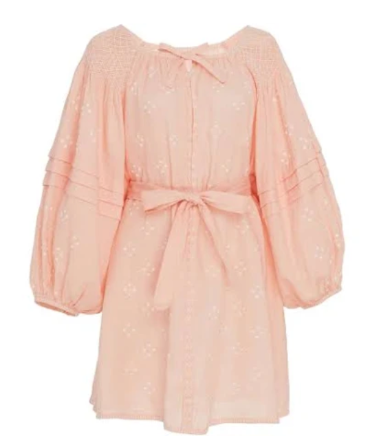 Innika Choo Mini Smock Dress - Peach