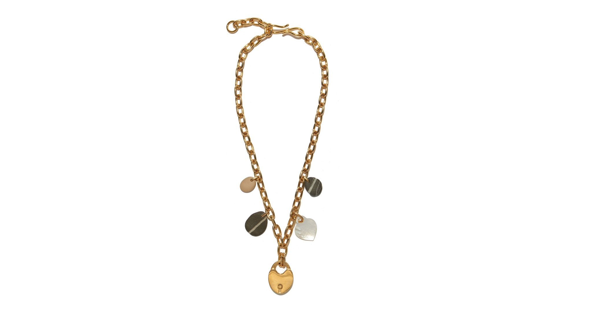 Lizzie Fortunato Heart Gold Necklace