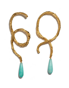 Lizzie Fortunato Cursive Earrings