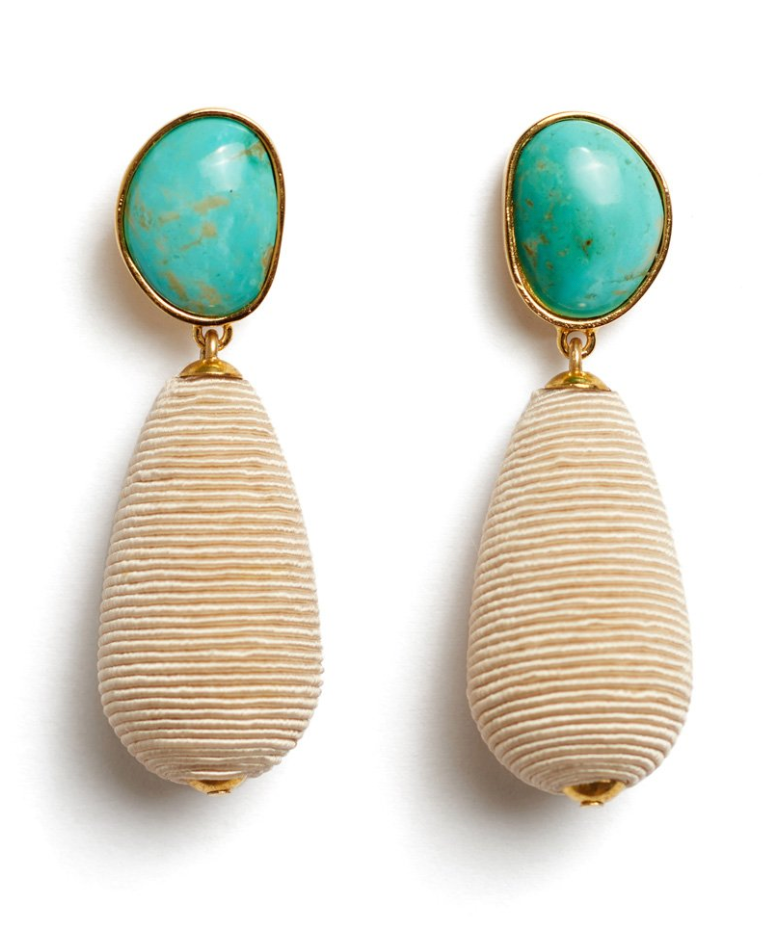 Lizzie Fortunato Drop Earrings - Turquoise