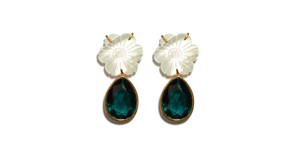 Lizzie Fortunato Lilly Pad Earrings