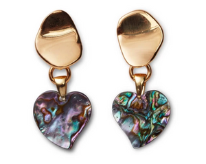 Lizzie Fortunato Abalone Heart Earrings