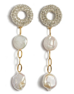 Lizzie Fortunato Chateau Pearl Earrings