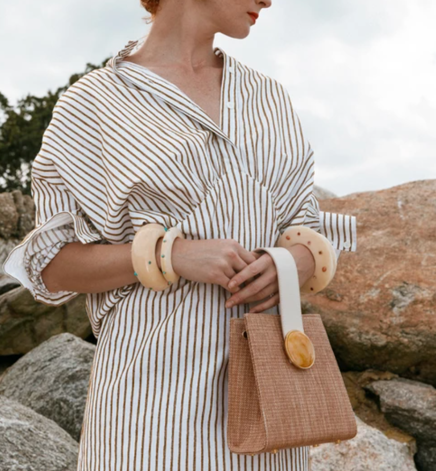 Pronto Purse - Woven Tan