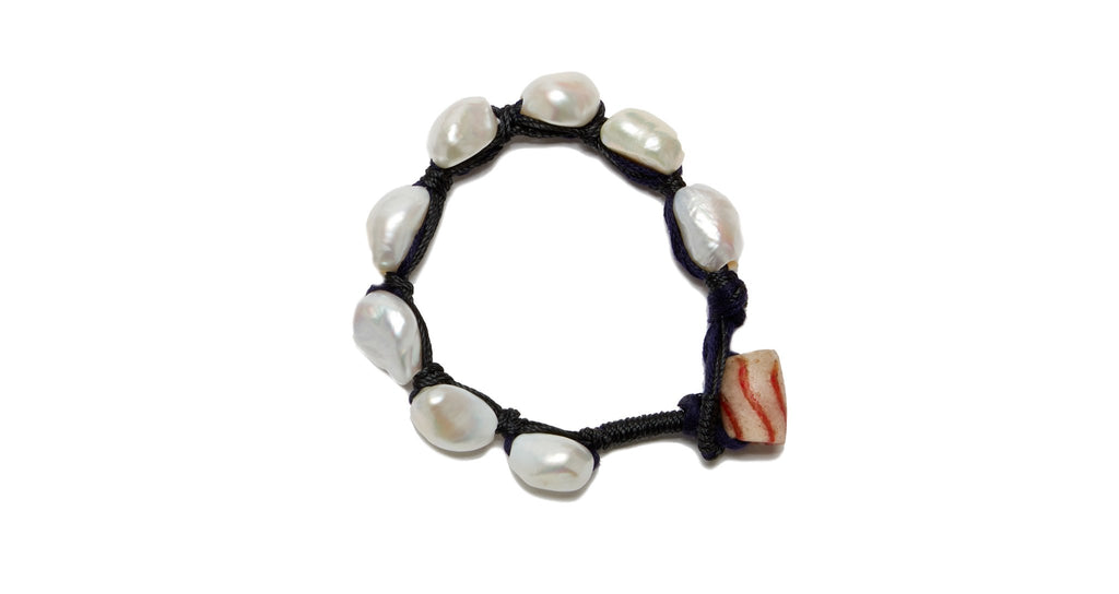 Lizzie Fortunato Pebble Bracelet - Black Pearl