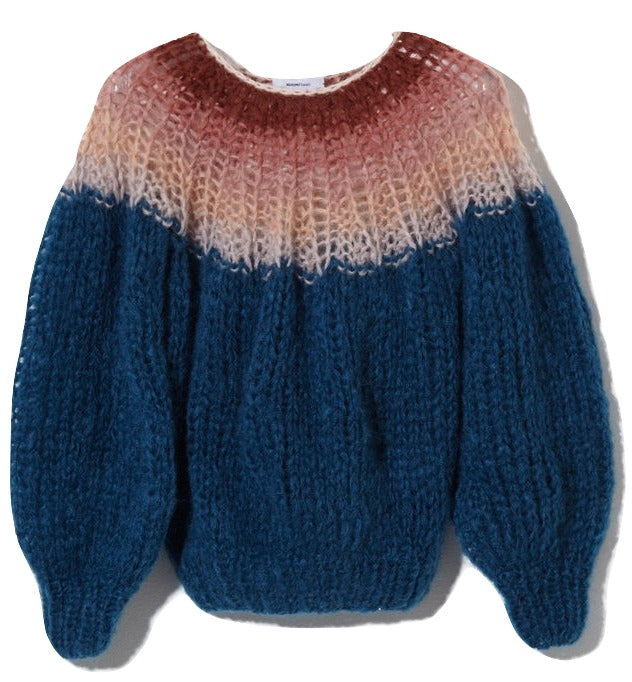 Maiami Mohair Pleated Sweater - Petrol