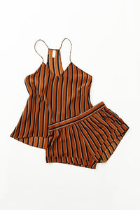 Maison Du Soir Tank Sleep Set - Tobacco Stripe