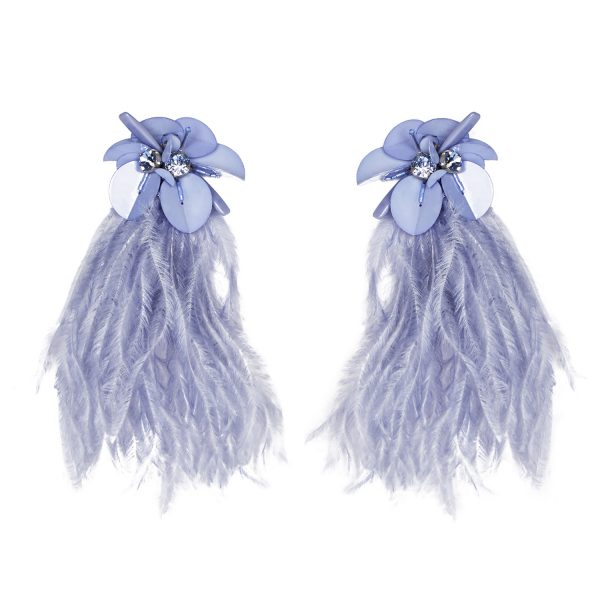 Mignonne Gavigan Haley Statement Earring - Light Blue