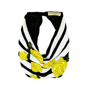 Mignonne Gavigan Lemon Scarf Necklace - Black/White