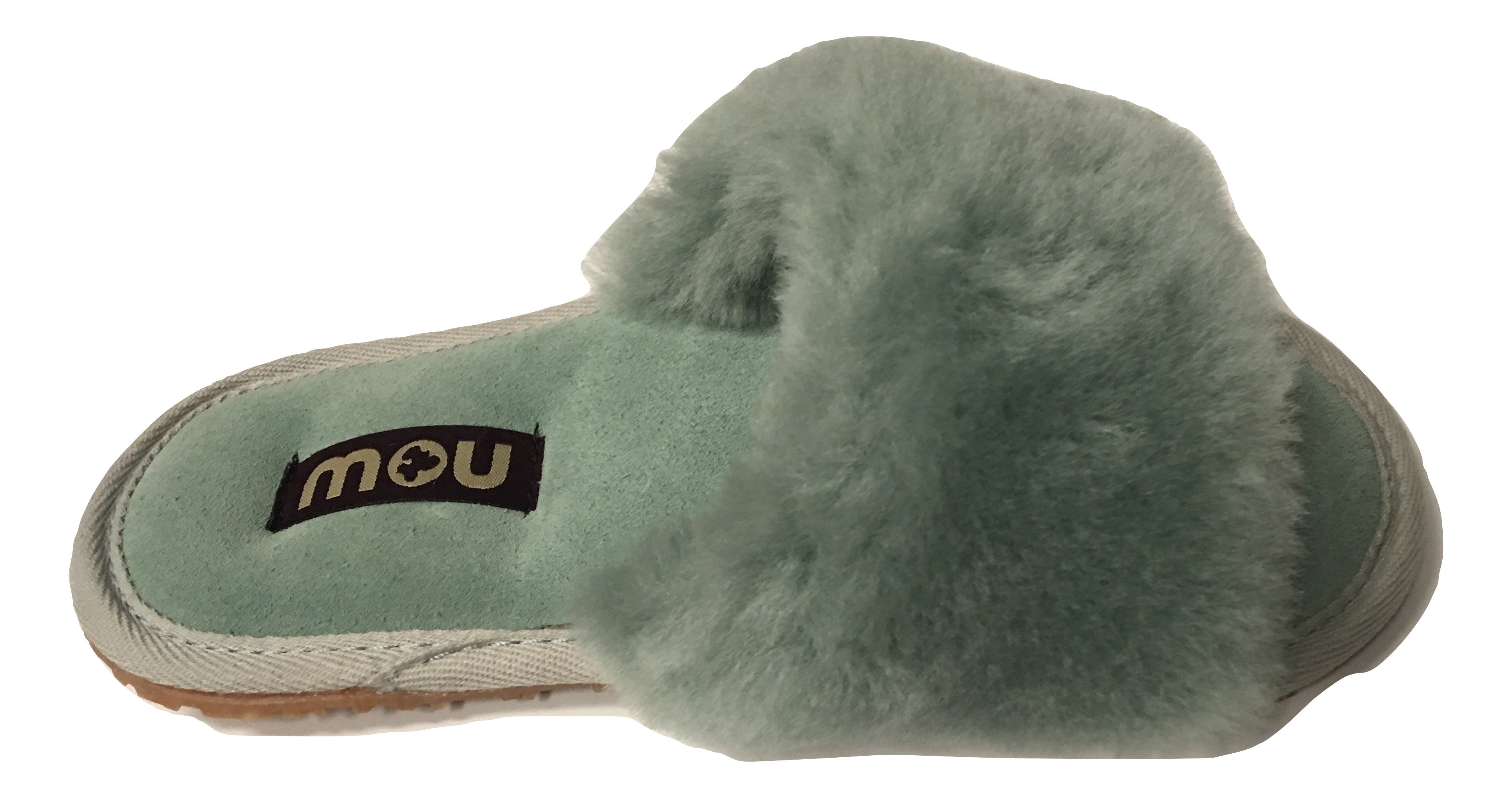 Mou Sheepskin Slides - Mint