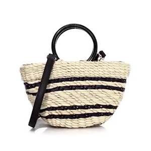 Poolside The Bec Tote - Natural/Black