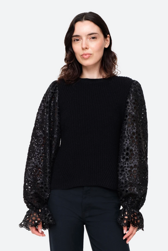 Shelby Eyelet Combo Sweater