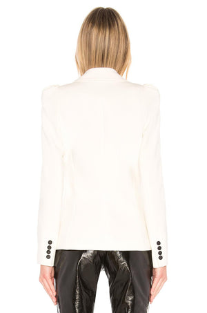 Smythe Box Pleat Blazer - White